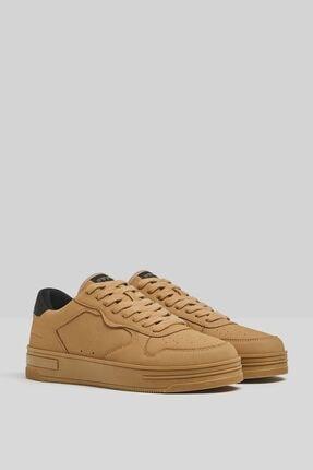 Bershka Erkek Kahverengi Kontrast Sneaker