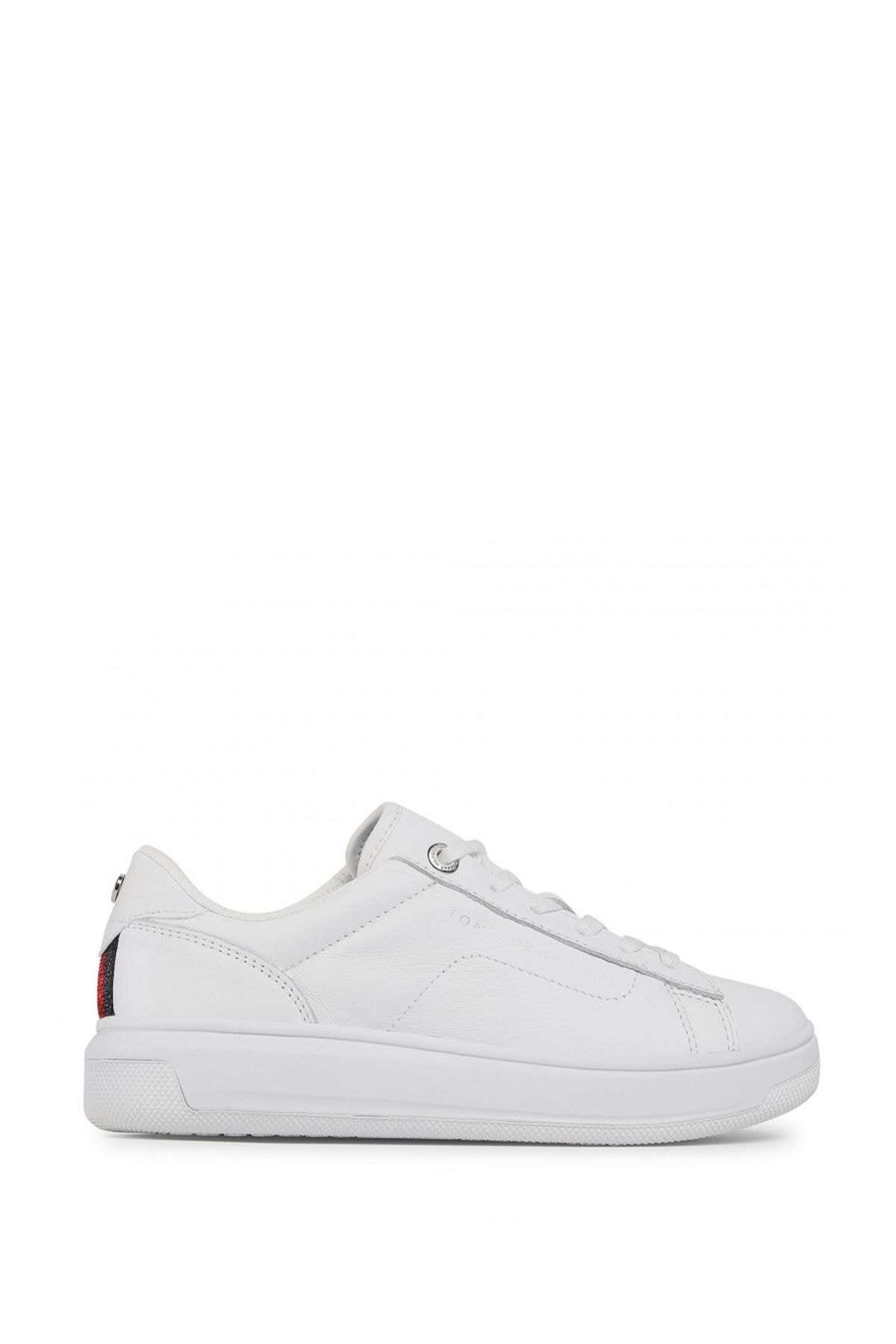 Tommy Hilfiger Kadın Beyaz Leather Cupsole Kadın Sneaker Fw0fw05009 2