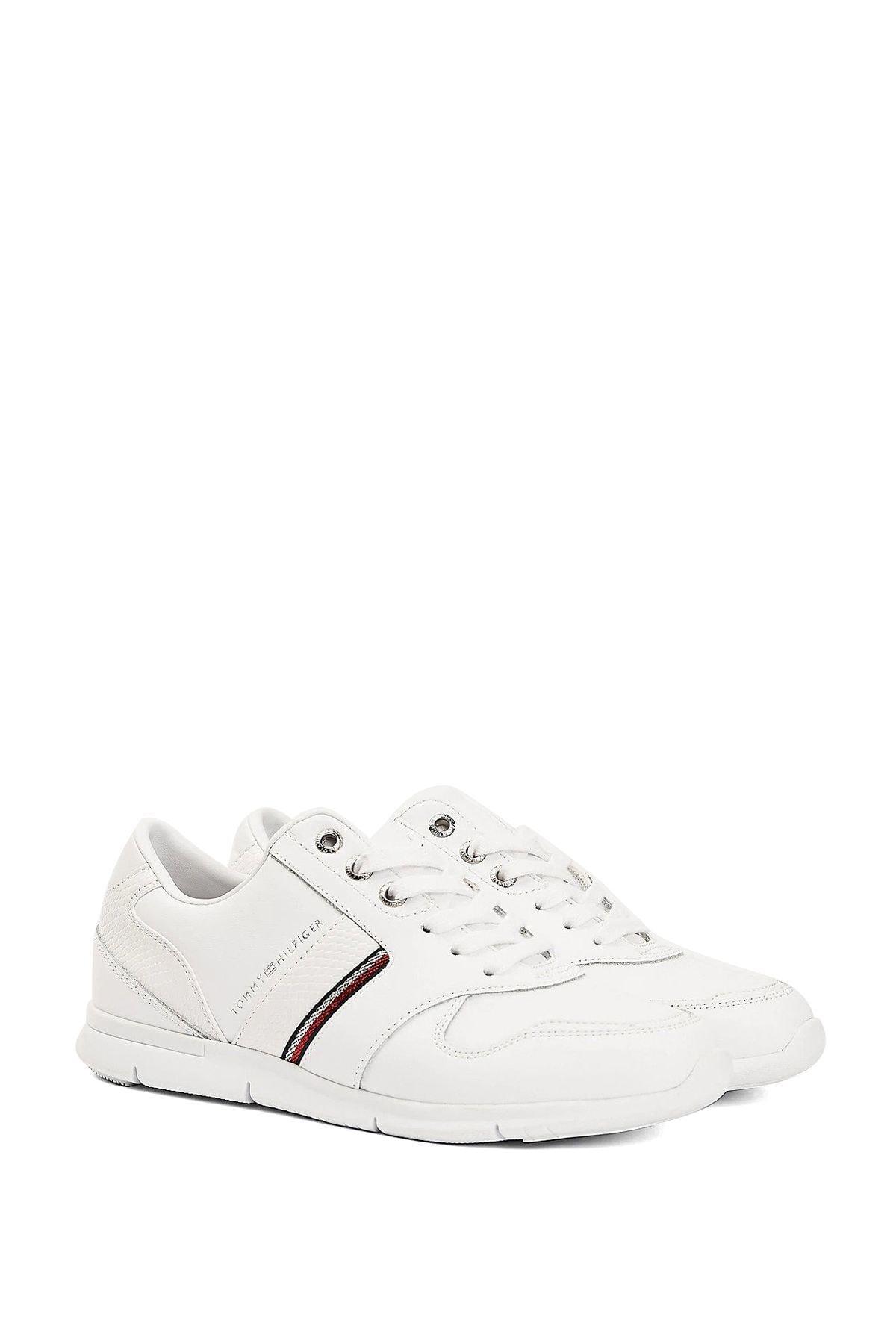 Tommy Hilfiger Kadın Beyaz Sneaker 1