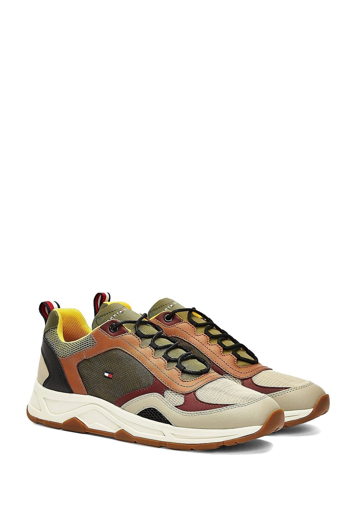 Tommy Hilfiger Erkek Kahverengi Fashion Mix Sneaker Ayakkabı Fm0fm02846 1