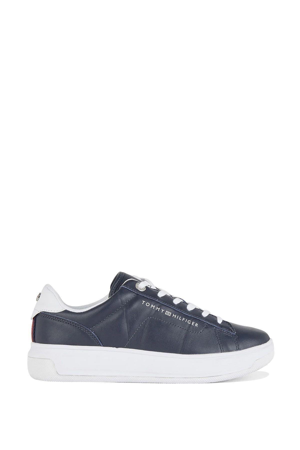 Tommy Hilfiger Kadın Siyah Leather Cupsole Kadın Sneaker 2