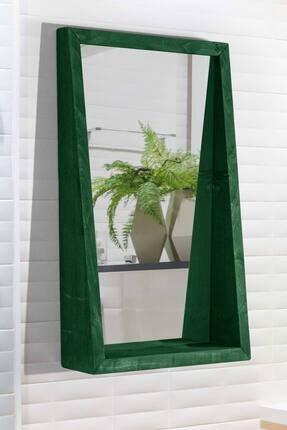 bluecape Doğal Ağaç Masif 70x42 Cm Asrın Yeşil Salon Ofis Mutfak Çocuk Odası Duvar Konsol Antre Boy Aynası