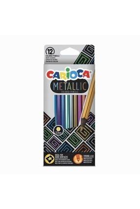 CARIOCA 12 Renk Metalik Kuru Boya Seti