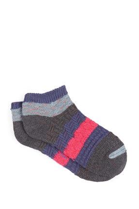 Mavi Gri Patik Çorap