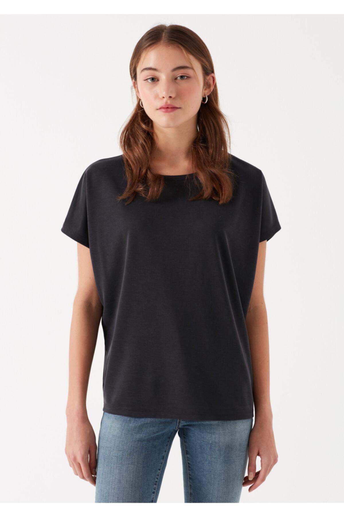 Mavi Siyah Modal Tişört 1