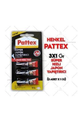 Pattex 3x1 Gr Süper Hızlı Japon Yapıştırıcı Mini Trio 3'lü