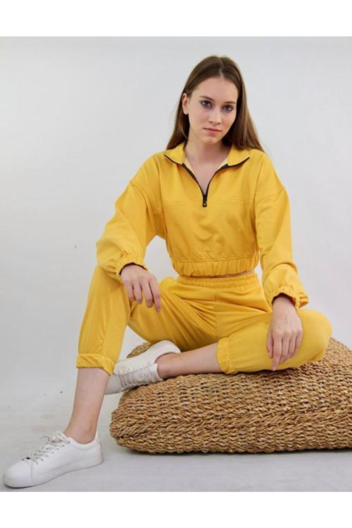 Heybe shop Kadın Sarı  2 İplik Eşofman Takımı 2