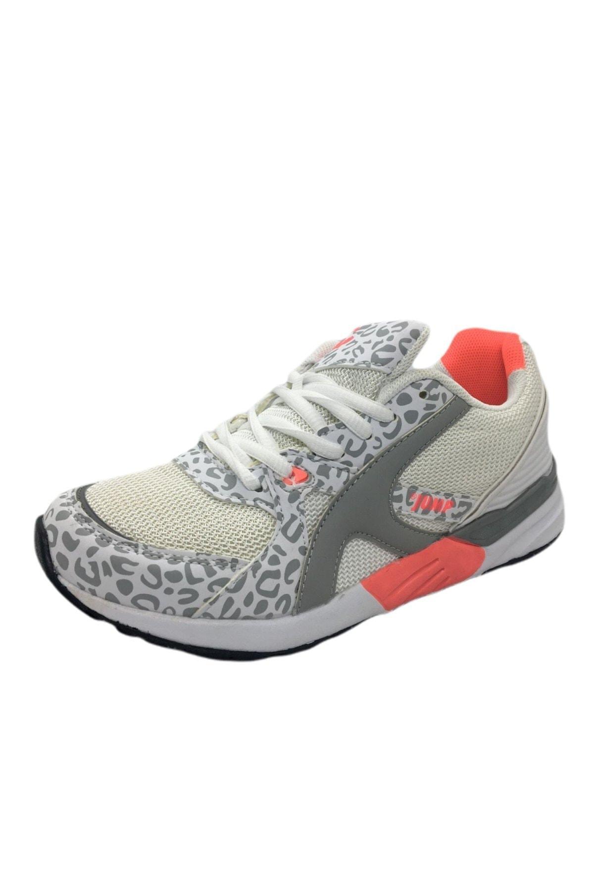 Jump Kadın Beyaz Pembe Spor Ayakkabı 1