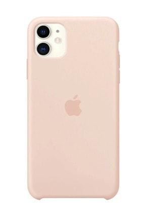 Apple Iphone 11 Silikon Kılıf Kumpembe