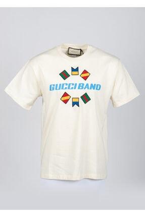 Gucci Erkek Krem T-shirt