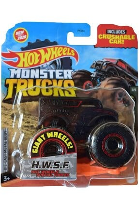 HOT WHEELS Monster Trucks 1:64 Scale Special Forces H.w.s.f., Crushable Car