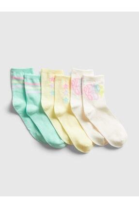 GAP Kız Çocuk 3'Lü Grafik Çorap Seti