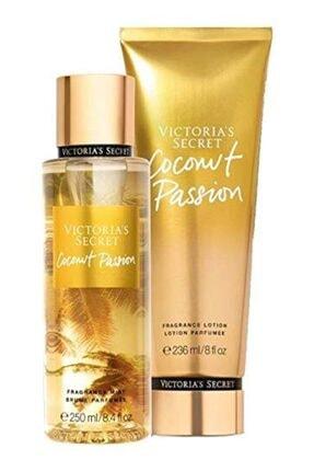 Victoria's Secret Coconut Passion New Collection Vücut Spreyi,vücut Losyonu 2 Li Set