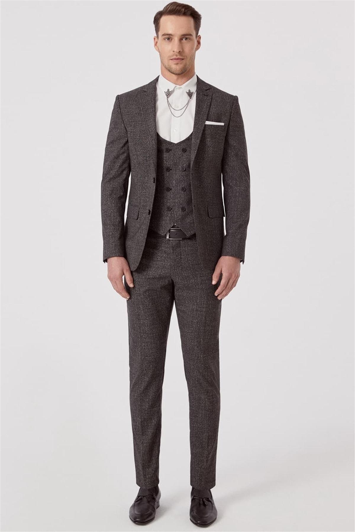 Efor TK 789 Slim Fit Siyah Klasik Takım Elbise