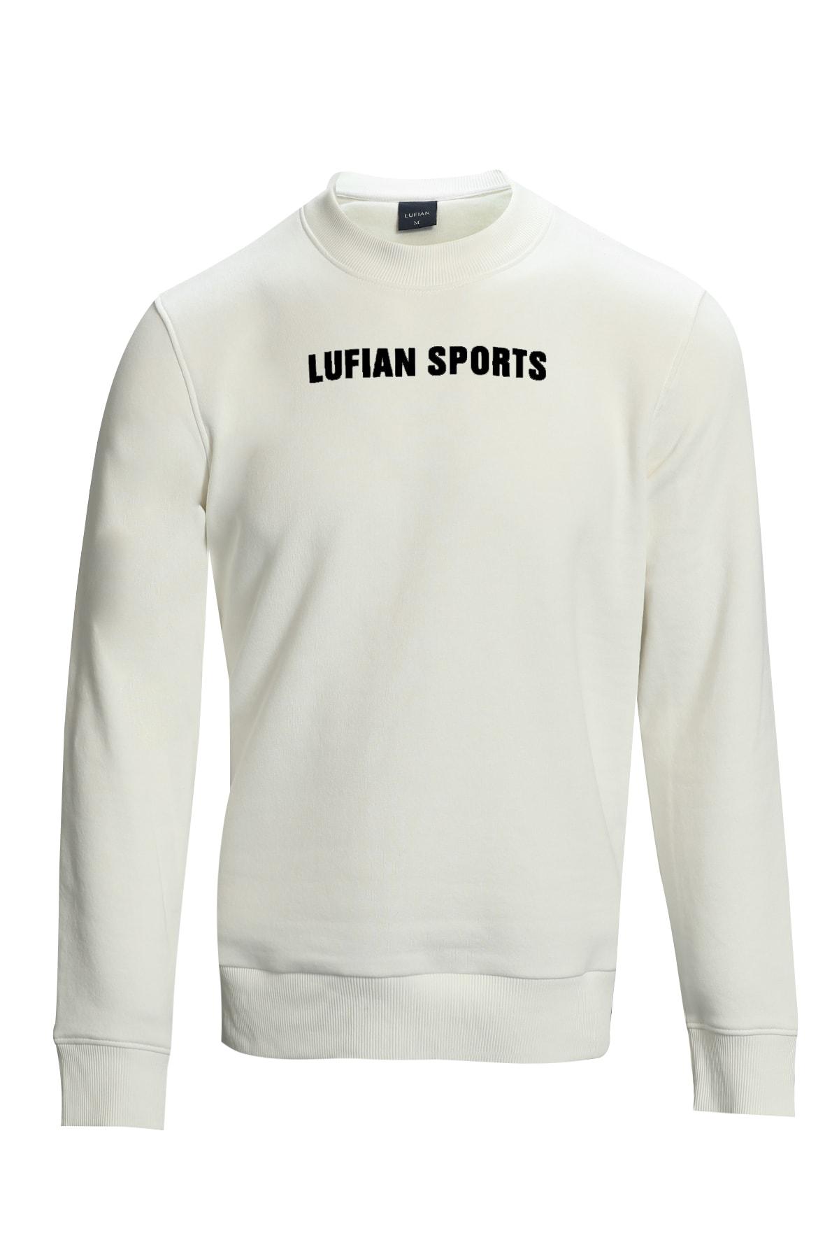 Lufian Star Sweatshirt Kırık Beyaz 1