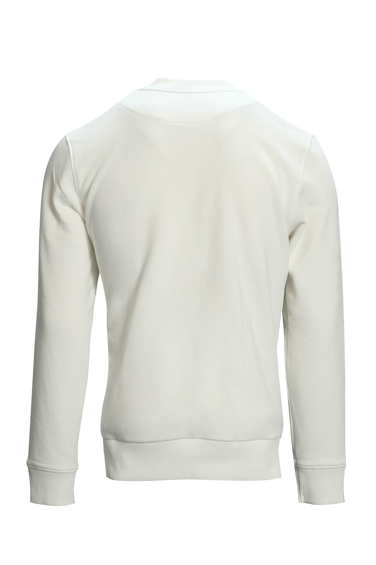 Lufian Star Sweatshirt Kırık Beyaz 2