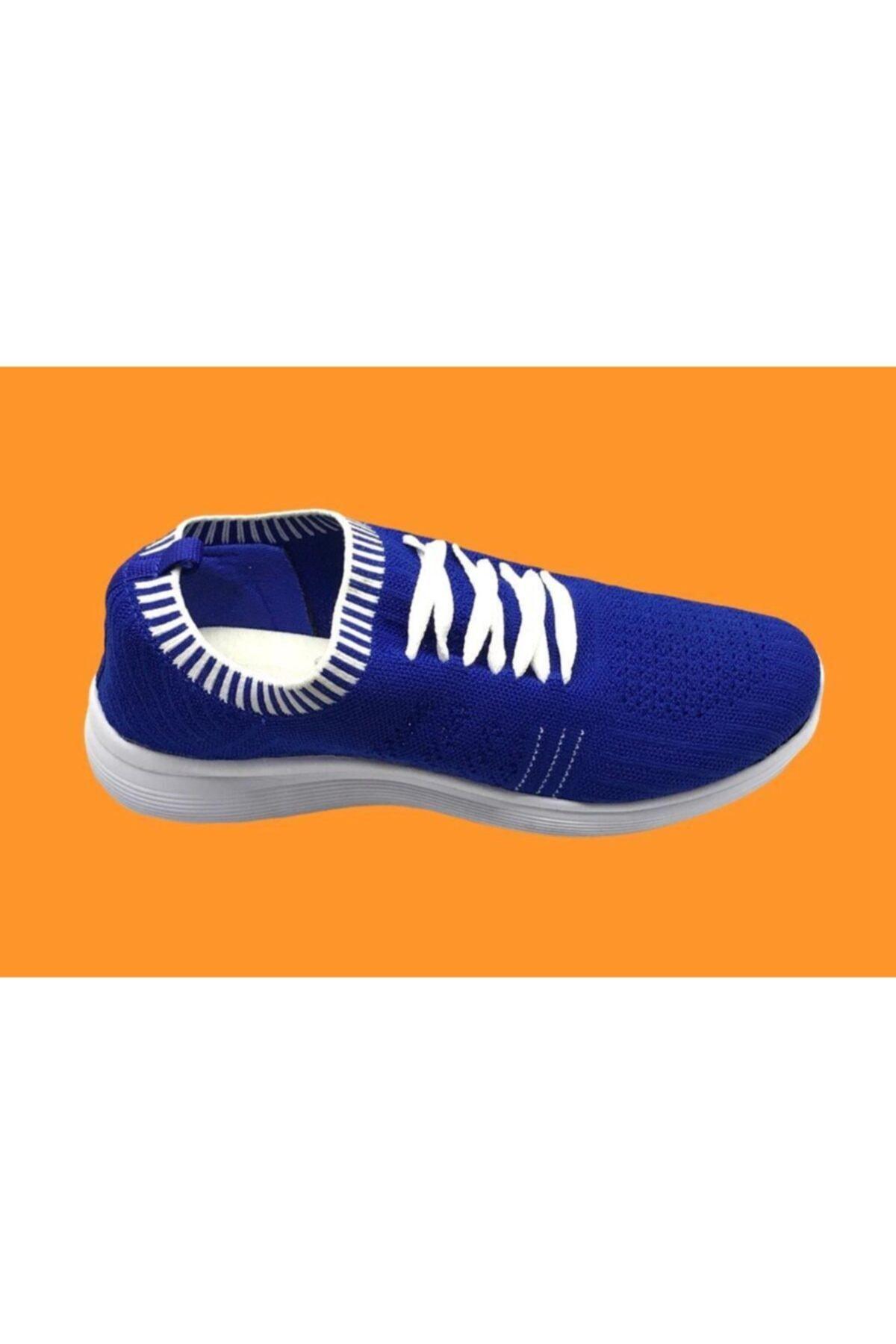 Marco Jamper Unisex Sax Mavi Çoraplı Ayakkabı 1