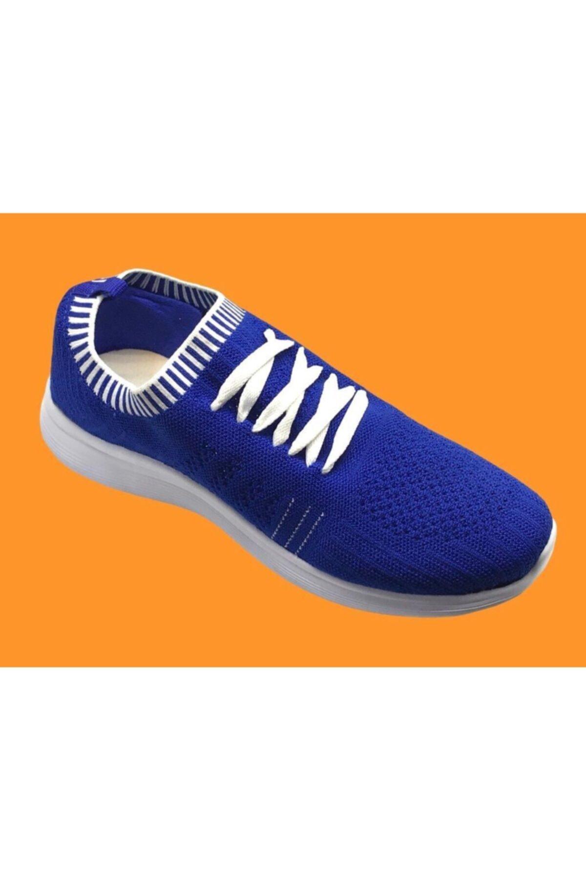 Marco Jamper Unisex Sax Mavi Çoraplı Ayakkabı 2