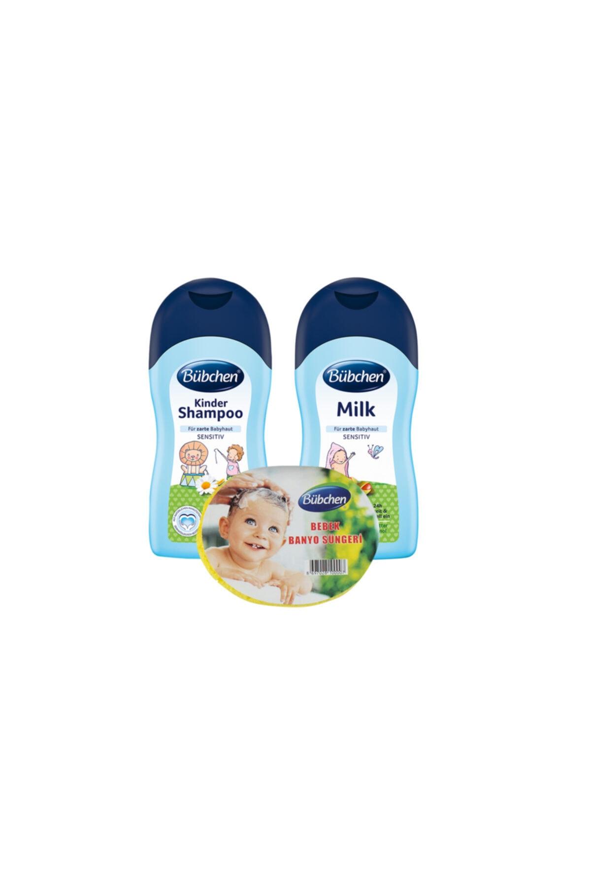 Bübchen Şampuan 400 Ml + Nemlendirici Süt 400 Ml + Sünger 1