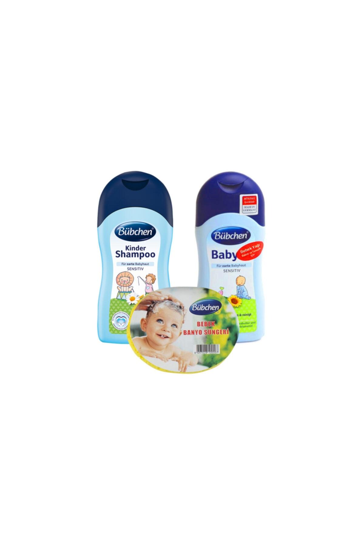 Bübchen Şampuan 400 Ml + Bebek Yağı 400 Ml + Sünger 1