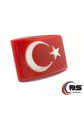 BsElektronik Türk Bayrağı Kaliteli Etiket Panjur Arması 3 Boyutlu Vidalı Arma