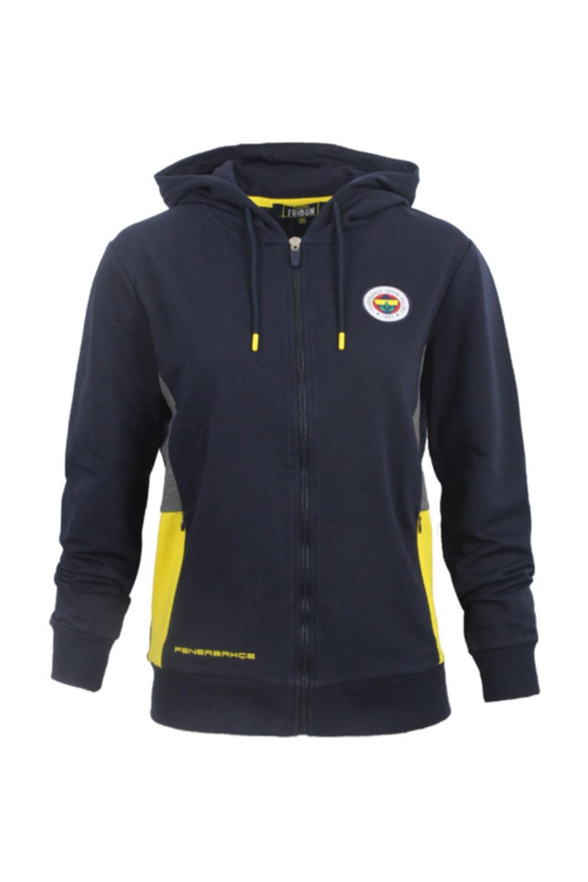 Fenerbahçe Kadın Lacivert Trıbun Basıc Sweatshirt 1