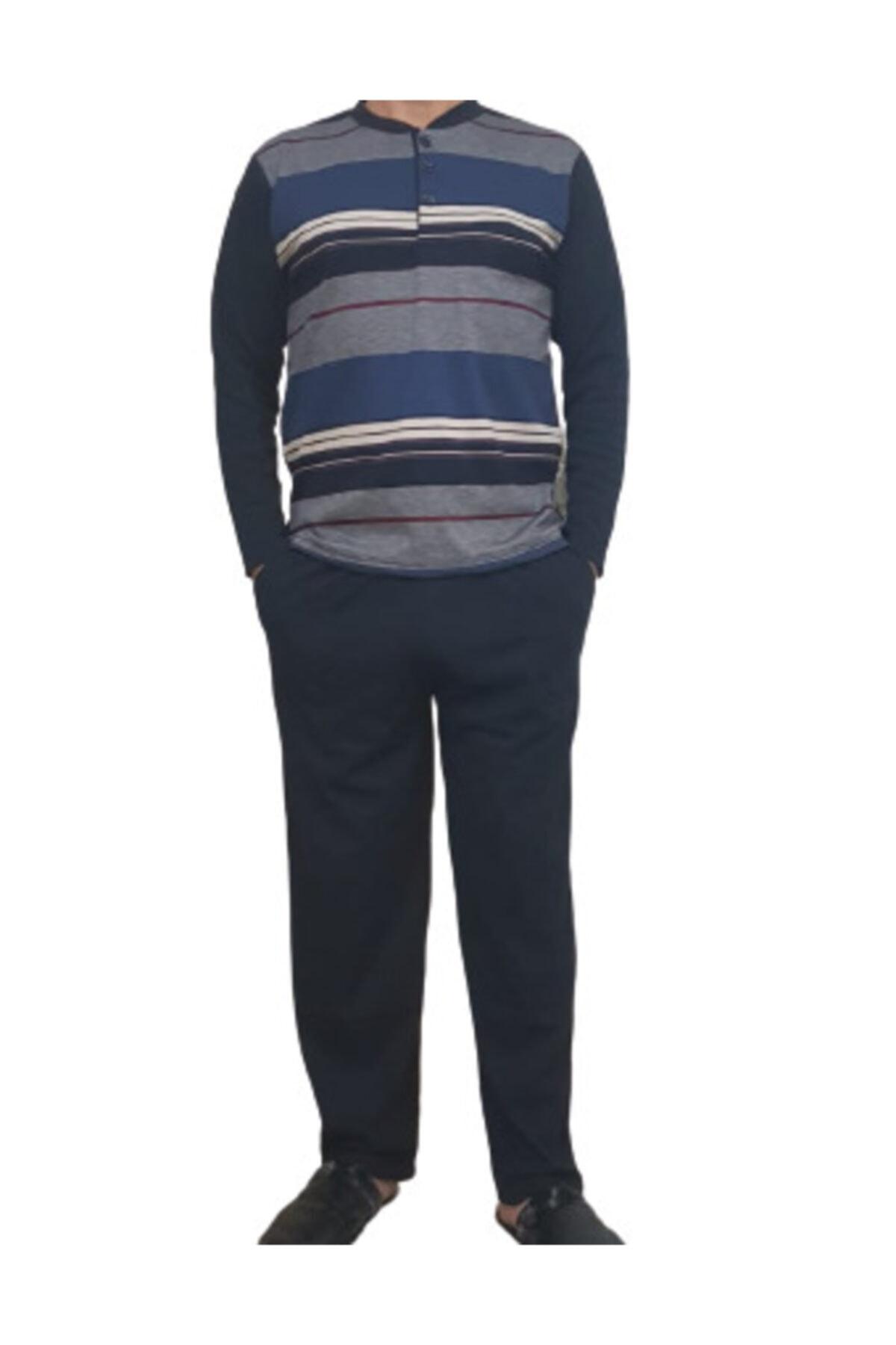 MAGİCAL STORY Erkek Lacivert Uzun Kollu Pijama Takımı 1