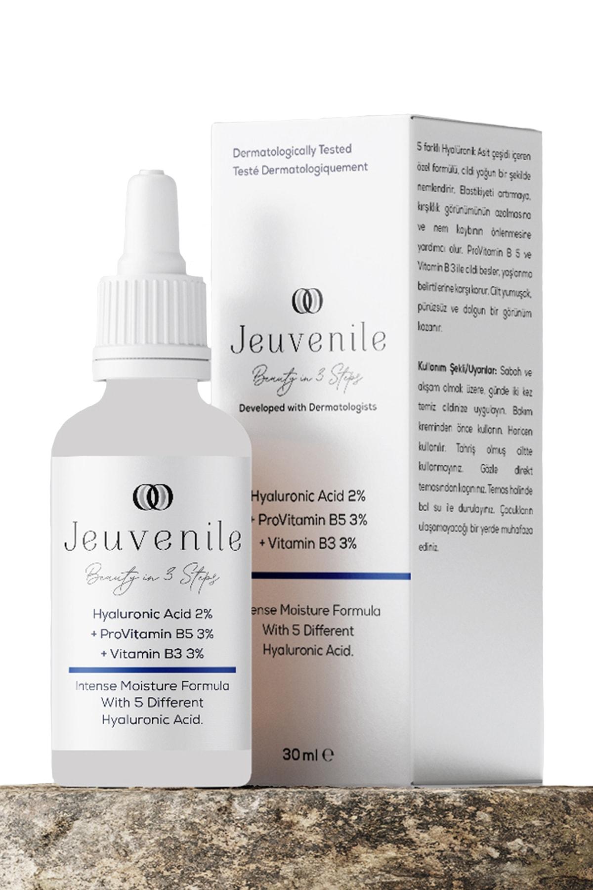 Jeuvenile Hyaluronic Acid %2 + Provitamin B5 %3 + Vitamin B3 %3 Yoğun Nemlendirici Serum 30ml 1
