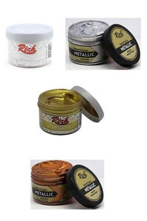 Rich Rölyef Pasta 160 Cc Metalik 4'lü Set