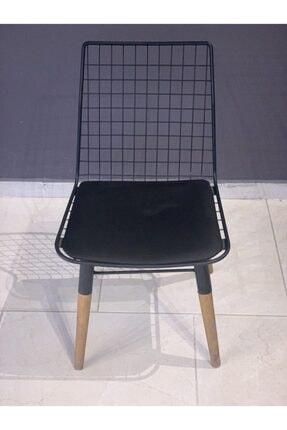 istanbul outlet Modern Ahşap Ayaklı Metal Sandalye