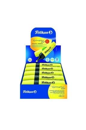 Pelikan 490 Fosforlu Işaretleme Kalemi Sarı (10 Lu Paket) Pl940379ıksa