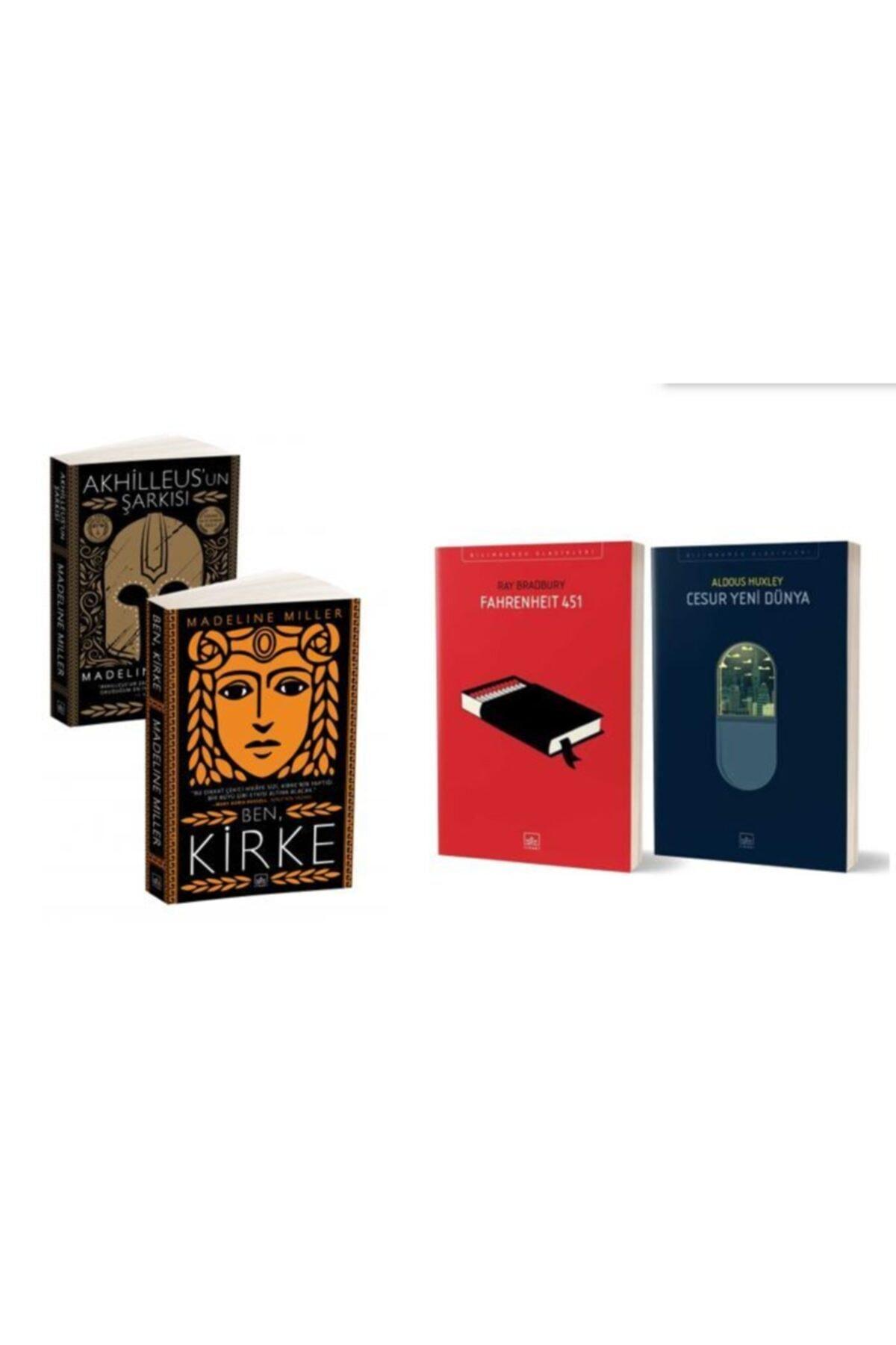 İthaki Yayınları Fahrenheit 451 + Cesur Yeni Dünya + Ben Kirke + Akhilleus'un Şarkısı (4 Kitap) 1