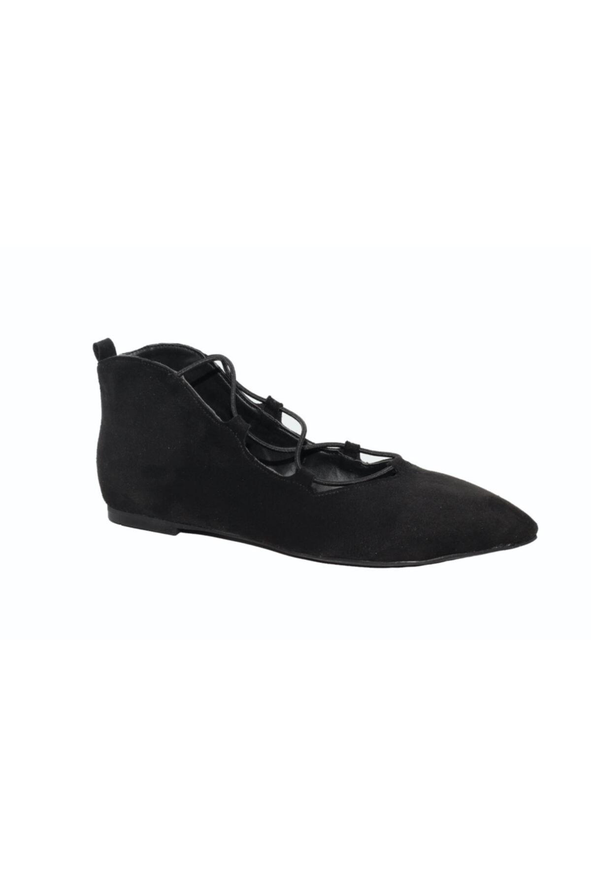 DİVUM Kadın Siyah Süet Ayakkabı 2