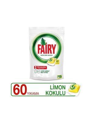 Fairy Hepsi Bir Arada 60 Yıkama Bulaşık Makinesi Deterjanı Kapsülü Limon Kokulu