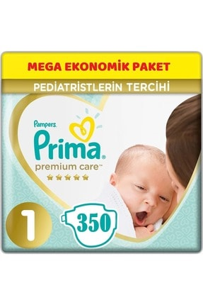 Prima Premium Care Bebek Bezi Beden:1 (2-5kg) Yeni Doğan 350 Adet Mega Ekonomik Pk