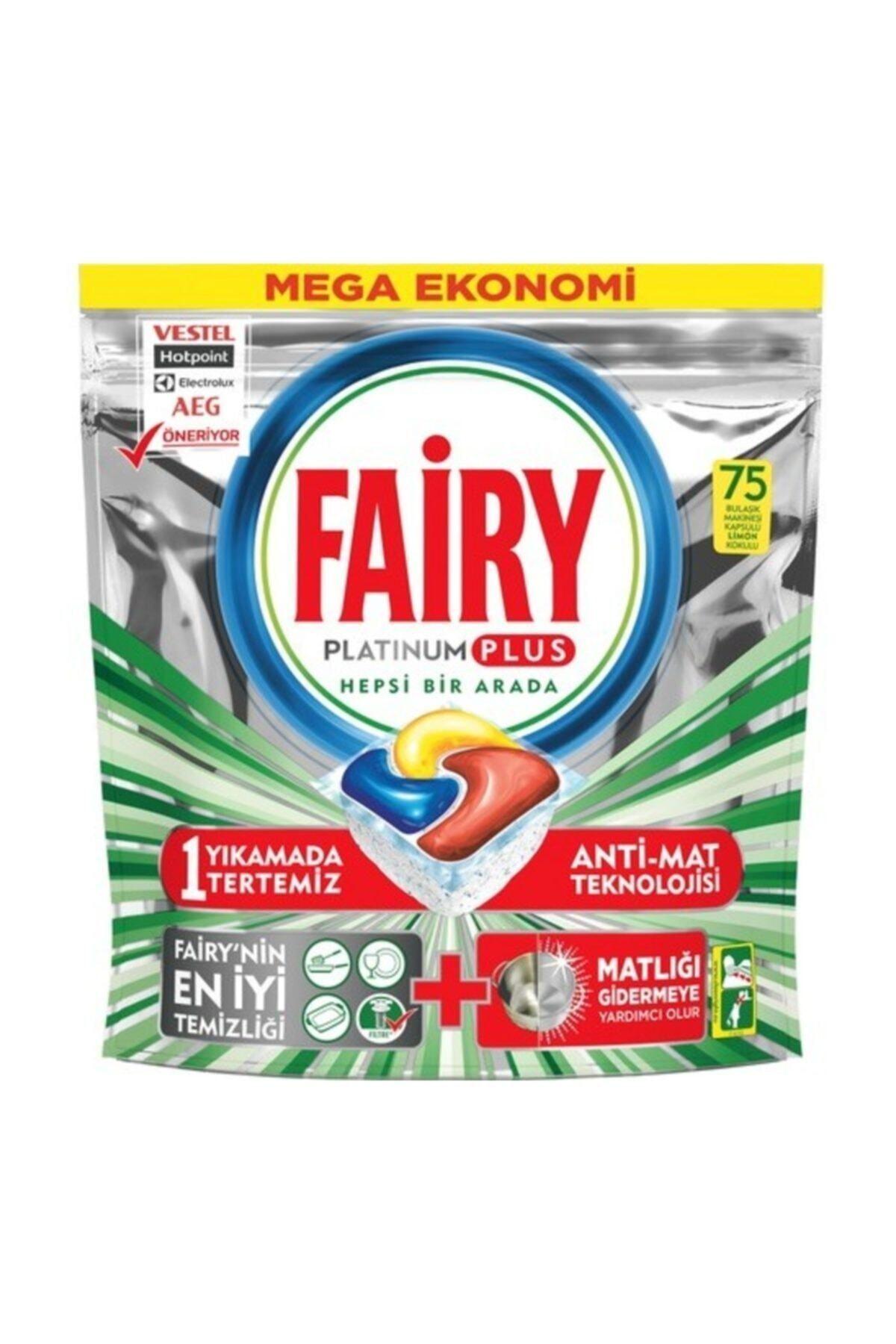 Fairy Platinum Plus Bulaşık Makinesi Deterjanı Kapsülü 75 Yıkama 1