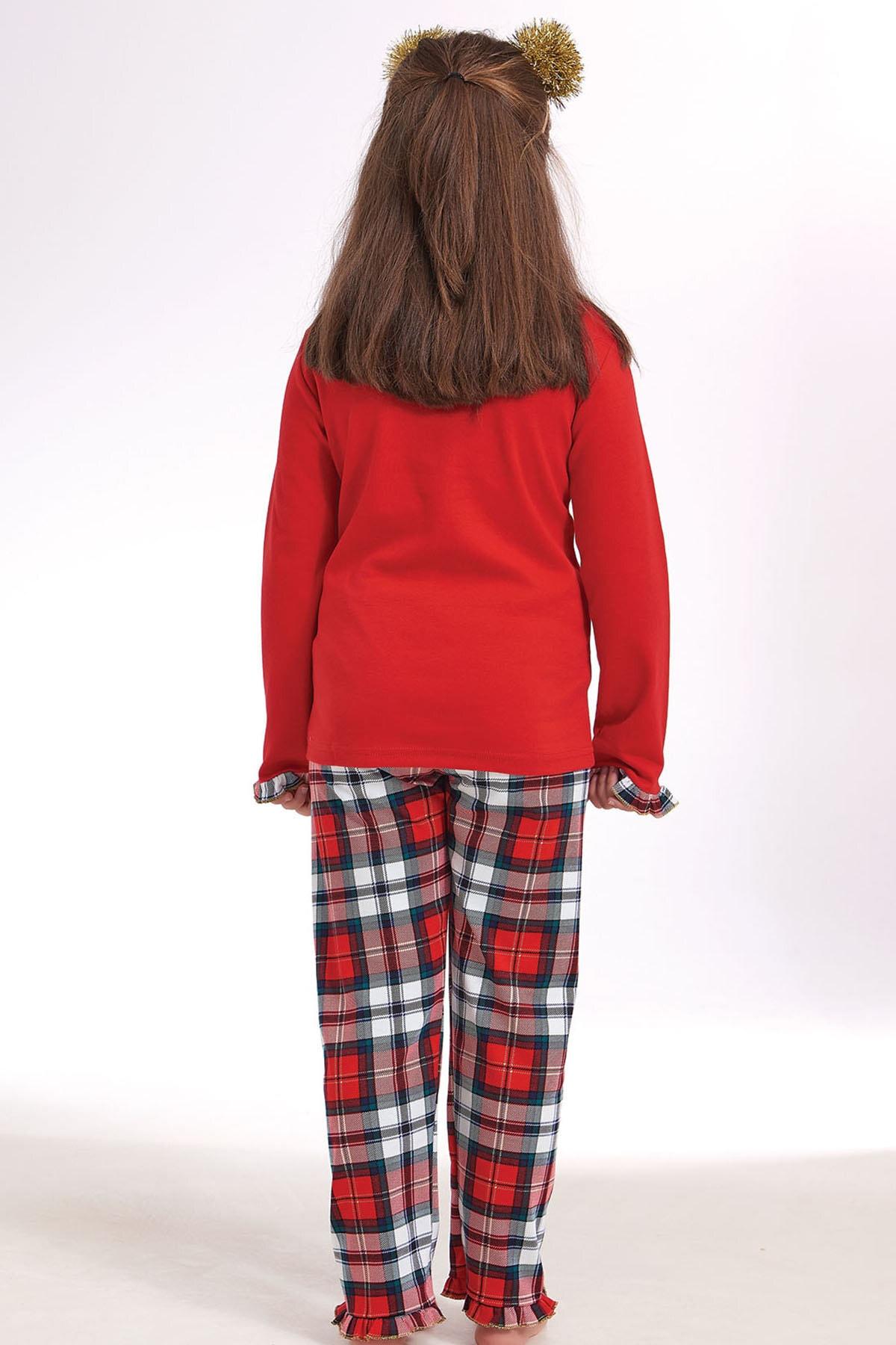 ZEYZEY Kız Çocuk Nakışlı Pijama Takım 2