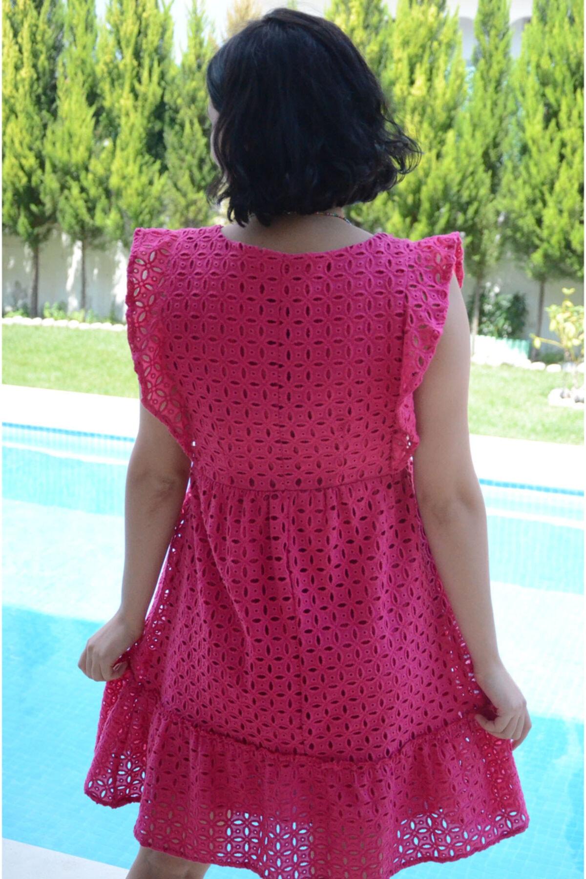 zeynep Kadın Pembe Fistolu Elbise 2