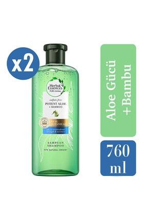 Herbal Essences Sülfatsız Güç Ve Nem Aloe + Bambu Şampuan 380 Ml X2