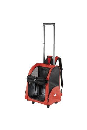 Ferplast Trolley Çekçekli Köpek Taşıma Çantası Kırmızı