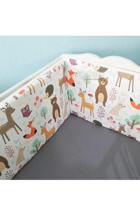 Jaju Baby 80x130 Orman Desenli Beşik Kenar Koruma 4 Parça Beşik Bariyeri