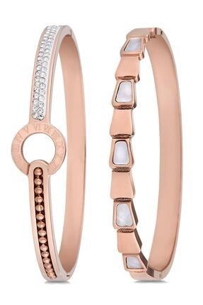 Toms Jewelry Kadın 2'li Çelik Bileklik Set