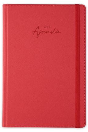 Matt Notebook Kırmızı 2021 Günlük Ajanda