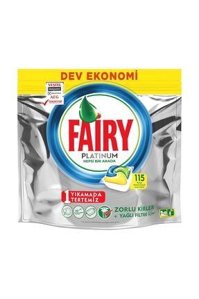 Fairy Platinum 115 Yıkama Limon Kokulu Bulaşık Makinesi Deterjanı Kapsülü