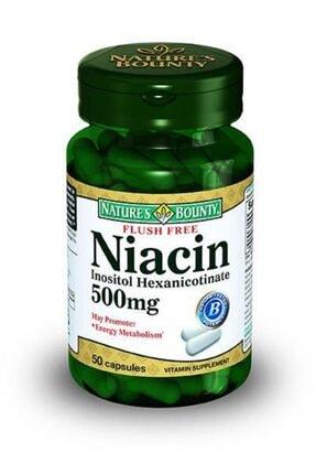 Nature's Bounty Flush Free Niacin 500 Mg 50 Kapsül