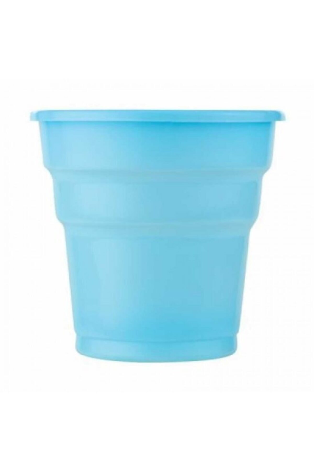 Roll-Up Açık Mavi Plastik Meşrubat Bardağı 25'li 1