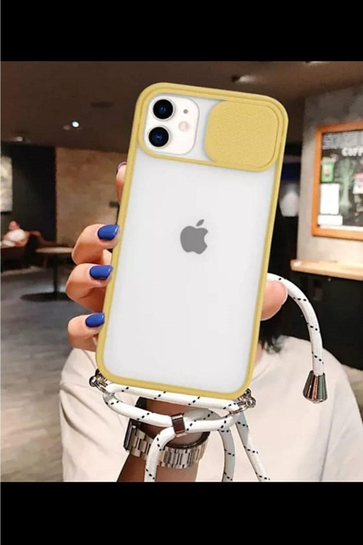CNSTAKI Iphone 11 Kamera Korumalı Ipli Boyun Askılı Telefon Kılıfı 1
