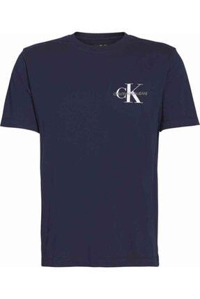 Calvin Klein Erkek Lacivert Kısa Kollu Monogram Embro Reg Chest T-shirts