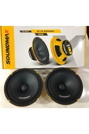 Soundmax 20cm Midrange Ciftti 600watt 300rms Iki Adet