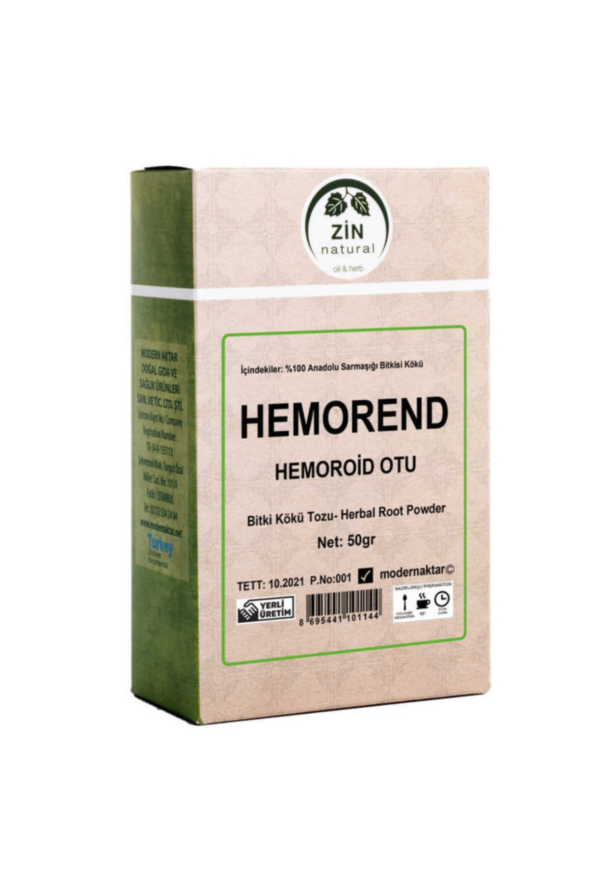 modern aktar Hemorend 50 Gr Hemoroid Otu - Basur Otu 1